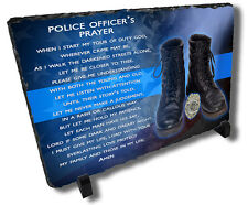Police Officer Prayer Stone Plaque