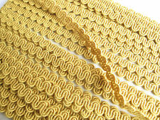 8mm Yellow upholstery chair braid trimming fabric trim ric rac rick rack PER MT