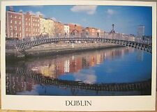 Irish Postcard HA'PENNY BRIDGE Dublin Ireland Kazmierczak John Hinde 2/D-011 4x6