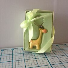 "NEW LUNAURA BABY GIRAFFE KEYCHAIN - POLY RESIN - MEASURES 2.5""X1"" - GREAT GIFT!"