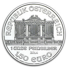 2014 1 oz Silver Austrian Philharmonic Coin - Brilliant Uncirculated -SKU #79021