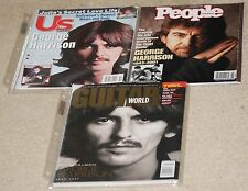 Lot of 3 GEORGE HARRISON related magazines.People weekly.Guitar World.US Weekly.