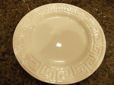 JONATHAN ADLER~ELIZABETH~GREEK KEY~WHITE~DINNER PLATE~NEW~