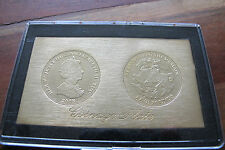 2008 Tristan Da Cunha TDC five pounds £5 coin coinage plate - St George & Dragon