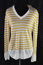 AUTH $450 Burberry Brit Women Bright Straw Linen Sweater XXL