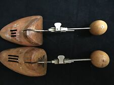 Lot of 2 Vintage Wood Miller Shoe Stretchers Frank Brothers NY