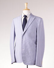 NWT $1125 BERTOLO Blue Peak Lapel Lightweight Cotton Blazer 42 R Sport Coat