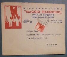 BUSTA COMITATO NUOVO MAGGIO PIACENTINO - PIACENZA - 1946