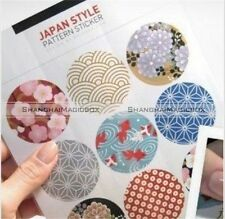 90pcs Traditional Japan Style Paper Sticker Round Sealing Paste Stickers S2