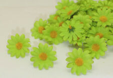 NEW 20PCS green Gerbera Daisy Heads Artificial Silk Flowers Wedding Dia 4cm