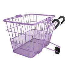Sunlite Wire Steel Mesh Front Bicycle Basket Purple Removable Carrier Colorful