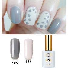 2 PIECES RS 106_166 Gel Nail Polish UV LED Sequined Varnish Cow Gray 15ml New