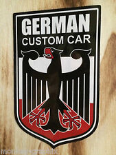 German Custom Car Aufkleber / Tuning Deutschland / Auto Sticker Adler Golf Opel