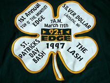 Rare Vtg 90s 92.1 THE EDGE Radio Lansing MI St. Patricks Day Clover T Shirt XL