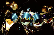"""12""""*8"""" concert photo of Eric Carr of Kiss playing at Wembley in 1980"""