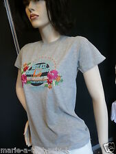 DEELUXE SURF RECORDS T SHIRT GRIS CHINE taille S 34/36