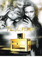 PUBLICITE ADVERTISING  2010   FAN de FENDI  parfum
