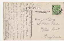 Mr. Jack Day, 27 Albert Road, Hythe, Kent 1914 Postcard, B275