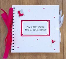 Personalised Hen Party Guest Book / Gift Book / Memory Book / Sparkle