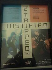 Christina Aguilera and Justin Timberlake Justified Tour Promo Ad Framed!