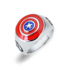 NEW MARVEL AVENGERS CAPTAIN AMERICA SUPER HERO Costume BOW RING JEWELRY SIZE O