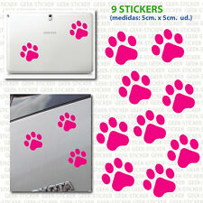 Huellas perro kit footprint dog X9 mascota Vinilo adhesivo Pegatina Sticker