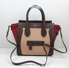 Womens Genuine Leather Suede Big Ears Smiley messenger Bag handbag shouder bag