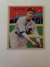Ted Lyons - Chicago White Sox 1935 DIAMOND STARS CARD #43 HOF Set Break - Sharp!