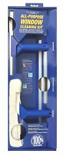 Ettore Window Cleaning Combo Kit 5 Ft Pole Squeegee Supplies Tools Office Home