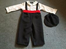 Vintage GREAT GUY One Piece Baby Boy Tuxedo with Hat 18 Months Black White Red