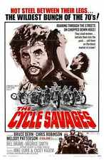 Cycle Savages Poster 01 A3 Box Canvas Print
