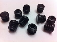 100 Black Plastic Blanking End Cap Caps Round Tube Pipe Insert 12.7mm / 1/2""