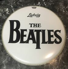 "The Beatles 20""  Ed Sullivan Show Bass Drum Head Collectible Ringo Starr"