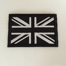 Embroidered Black UK National Flag Iron On Sew On Patch Badge Flag Union Jack