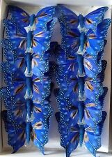 Box of 12 Feather Butterfly Decorative Clip (8cm/1pcs).