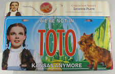 WIZARD OF OZ METAL LICENSE PLATE TOTO DOROTHY L327