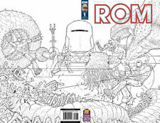 ROM SPACEKNIGHT #1 2016 1:10 SDCC PX WRAP B&W SKETCH VARIANT COVER