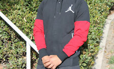 NIKE JORDAN VARSITY JACKET HOODIE SZ XXL BLACK GYM RED WHITE HOODY 689020 011