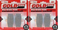KAWASAKI ZR 400 ZEPHYR ZR400   SINTERED FRONT BRAKE PADS (2 pair) *GOLDFREN*