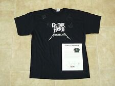 Metallica All 4 Band Signed Autographed Guitar Hero XL T Shirt PSA Certified