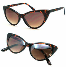 Retro Classic Designer Vintage Fashion Shades Women Tortoise Cat Eye Sunglasses