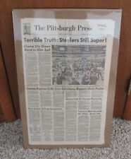 VINTAGE 1980 PITTSBURGH STEELERS NEWSPAPER FROM AFC CHAMPIONSHIP RARE
