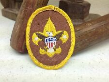 BASIC BROWN GOLD BORFER BOY SCOUT OF AMERICA PATCH