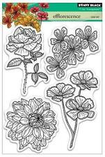 New Penny Black RUBBER STAMP clear Acrylic Efflorescence flowers free us ship