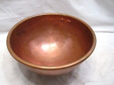 Vintage Copper Confection Candy Making Heavy Mixing Bowl Brass Ring Kitchen Tool