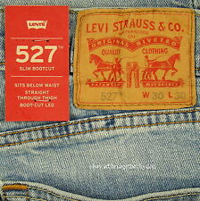 Levis 527 Jeans Mens New Slim Boot Cut Size 30 x 30 BLUE STONE Levi's NWT #286