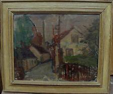 Thure Lundström?, village segment dans fahlem lumière, pour 1950