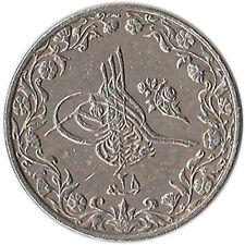 1902 (AH 1293/28) Egypt (Ottoman) 1/10 Qirsh Coin KM#289