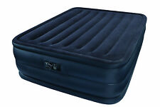 Intex Raised Downy Queen Inflatable Mattress Air Bed Airbed Kit w/ Pump Camping