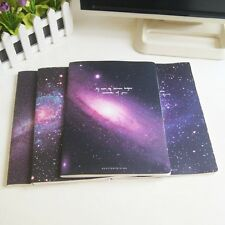 """""""Galaxy Tour"""" Pack of 4 Lined Notebook Workbook Big Study Planner Diary Journal"""